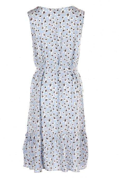 Купить летний сарафан с поясом с оборкой. Деловая Женская Одежда фото