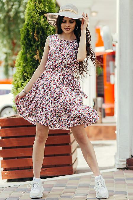 Штапельное легкое платье в меленький цветочек. Деловая женская одежда фото