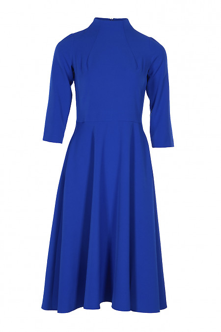 Плаття зі стійкою електрик. Діловий жіночий одяг