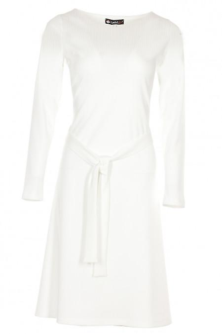 Сукня трикотажна бордова Діловий жіночий одяг фото