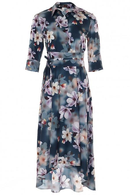 Платье в цветы 3D Деловая женская одежда фото