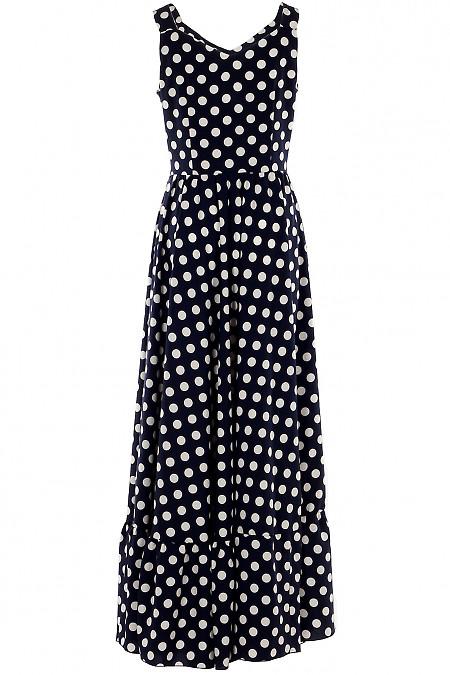 Платье макси из софта