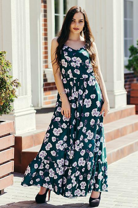 Купить платье макси зеленое. Деловая женская одежда фото