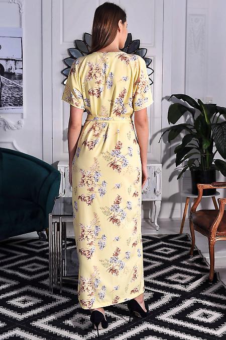 Летнее желтое платье до пола