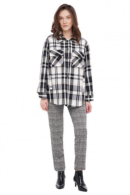 Рубашка-куртка оверсайз Деловая Женская Одежда фото