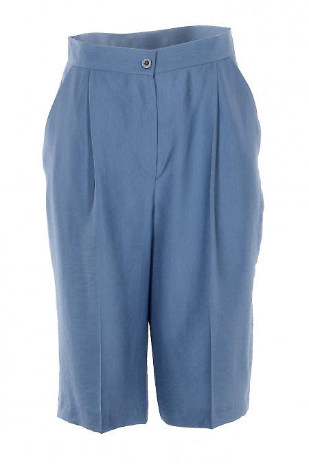 Шорты бермуды голубые. Деловая женская одежда