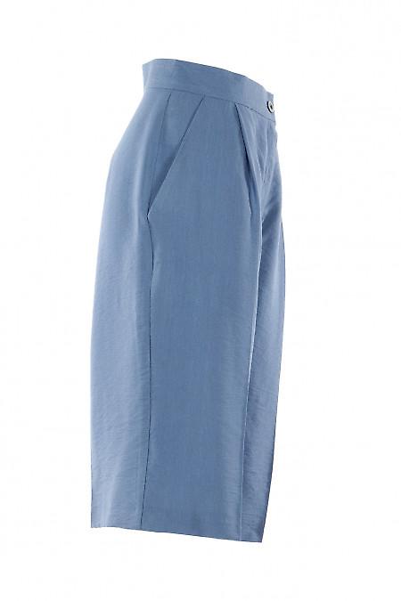 Льняные голубые шорты