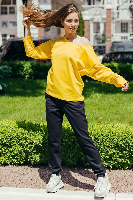 Спортивный костюм желто-черный женский. Женская одежда фото