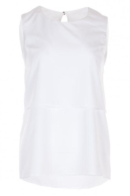 Топ білий з віскози Діловий жіночий одяг фото