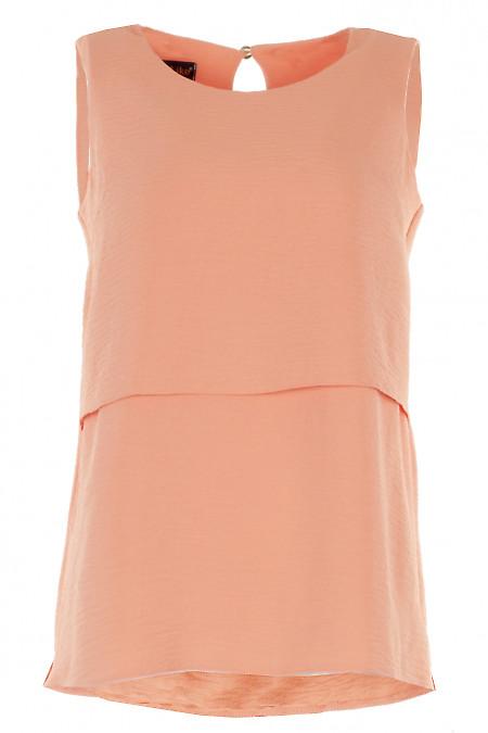 Топ персиковий з жатки Діловий жіночий одяг фото