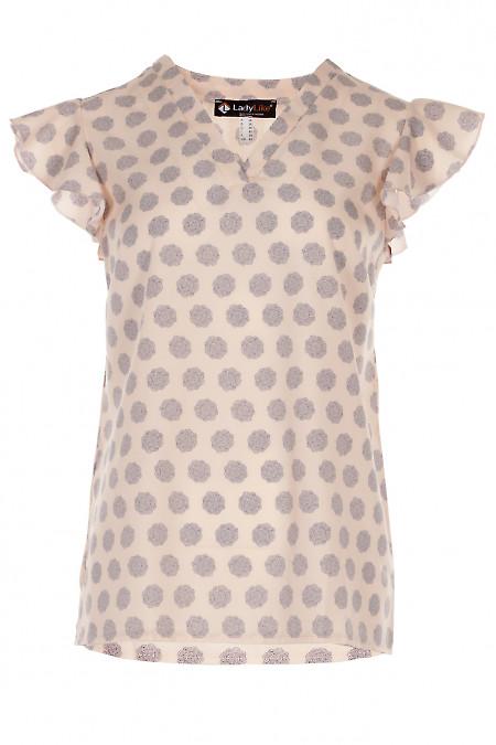 Топ с крылышком персикового цвета Деловая женская одежда фото