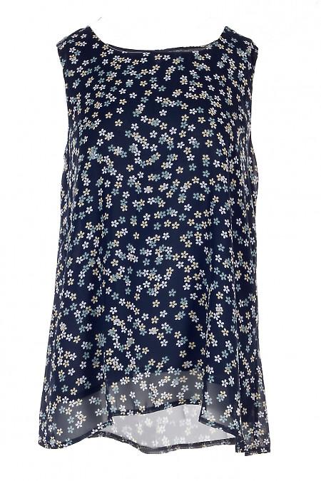 Топ шифоновый в цветы на подкладке. Деловая Женская Одежда фото