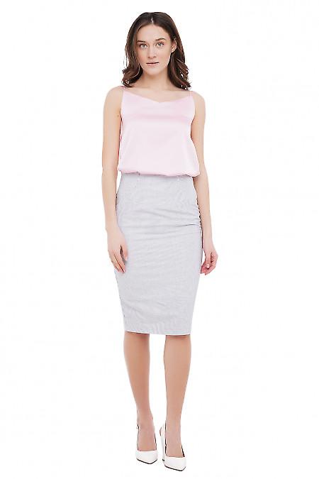 Хлопковая юбка Деловая Женская Одежда фото