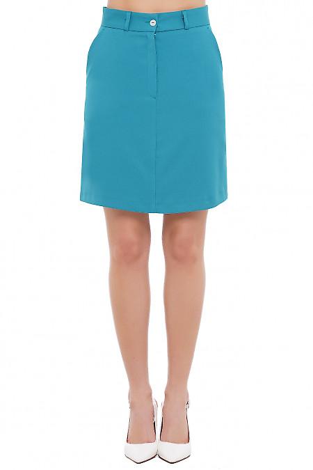 Юбка бирюзовая Деловая Женская Одежда фото