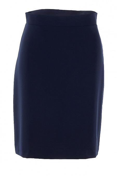 Юбка коротенькая синяя. Деловая женская одежда