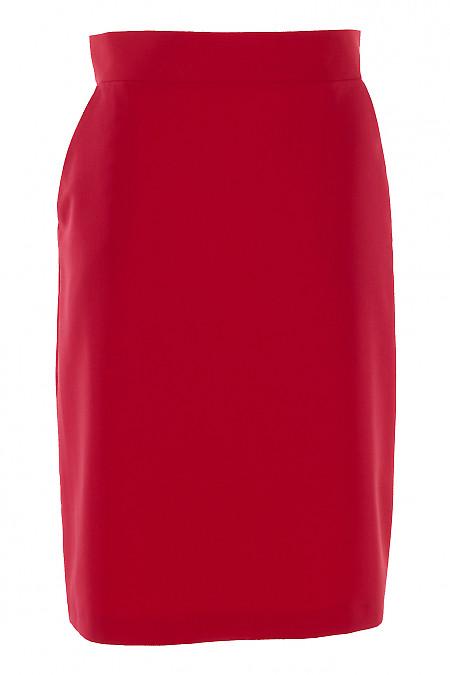 Юбка малиновая с карманами. Деловая женская одежда