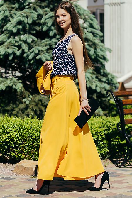 Купить макси юбку желтого цвета. Деловая женская одежда фото
