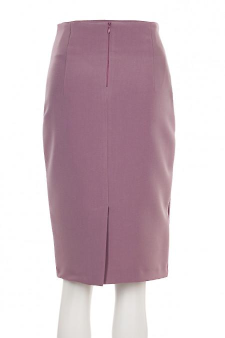 Купить розовую юбку с косыми складками. Деловая женская одежда фото