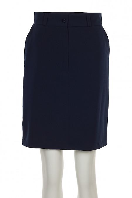 Спідниця синя з застібкою спереду. Жіночий одяг
