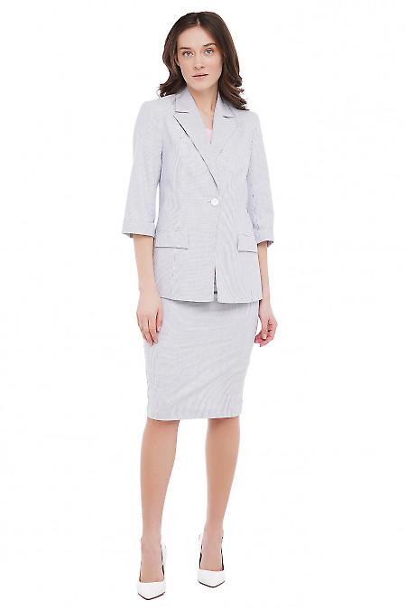 Хлопковый костюм Деловая Женская Одежда фото