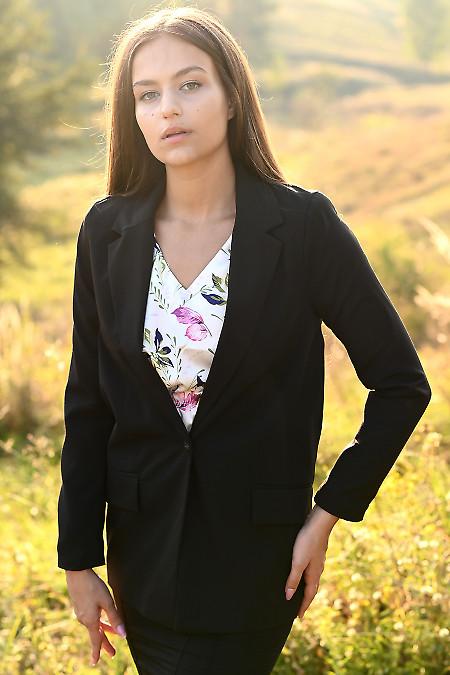Жакет женский оверсайз черный. Деловая женская одежда фото
