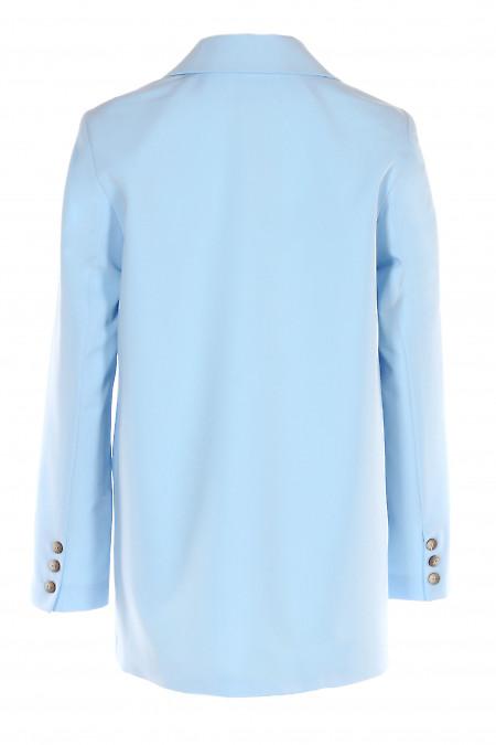 Купити жакет голубий оверсайз. Діловий жіночий одяг.
