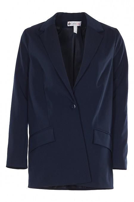 Жакет синій оверсайз на один гудзик. Ділова Жіноча Одяг фото