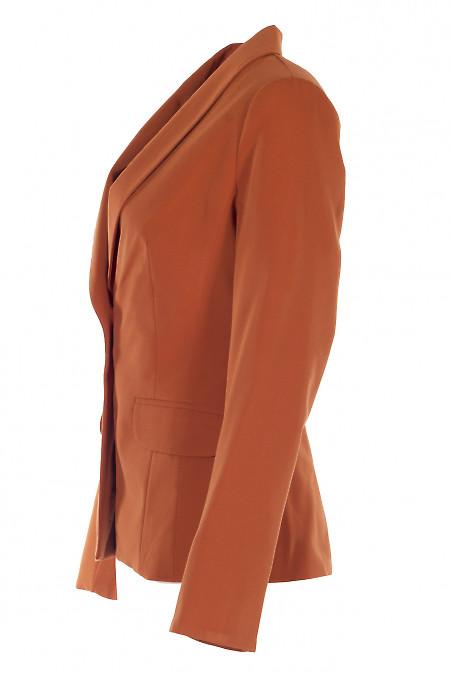 Удлиненный терракотовый женский жакет. Деловая Женская Одежда фото
