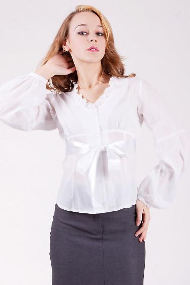 Блуза 516w Блуза  из тонкого белого батиста