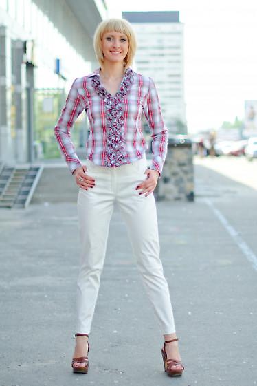 Брюки белые зауженые Деловая женская одежда