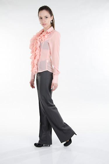 Брюки классические полосатые Деловая женская одежда