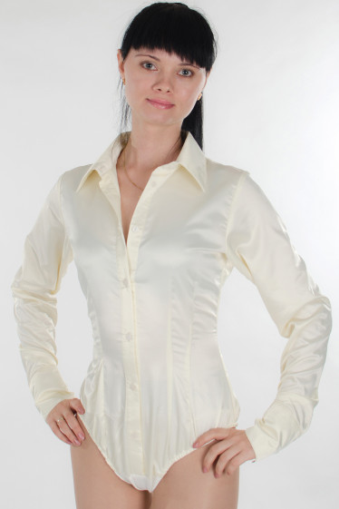 Комбидресс (боди) атласный Деловая женская одежда