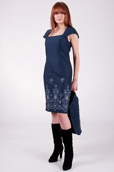 Платье классическое 511s Строгое платье облегающего покроя