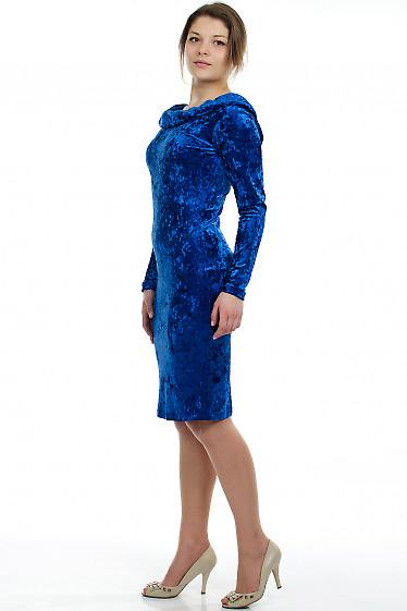 Платье вечернее синее Деловая женская одежда