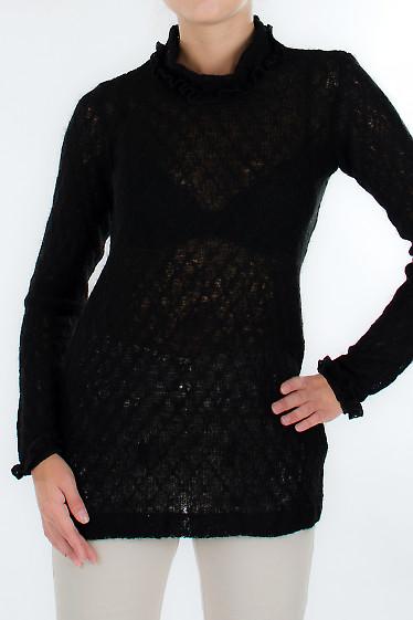 Свитер черный Деловая женская одежда
