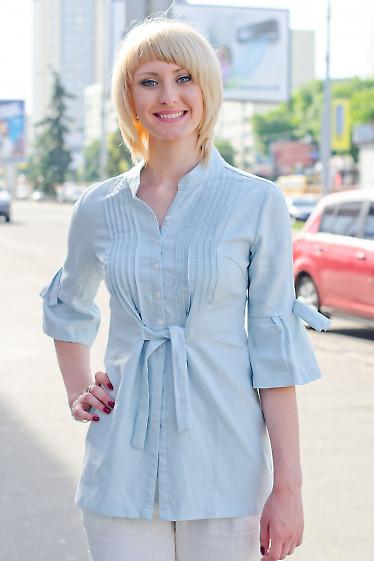 Туника голубая Деловая женская одежда