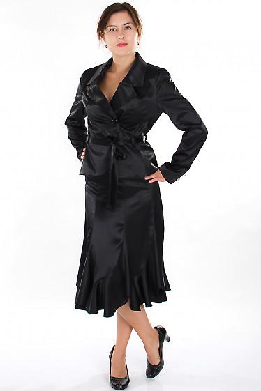 Юбка годе черная Деловая женская одежда
