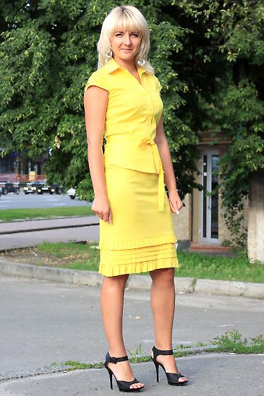 Юбка желтая летняя Деловая женская одежда