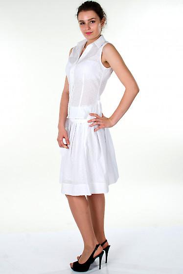 Фото Блузка белая без рукавов Деловая женская одежда
