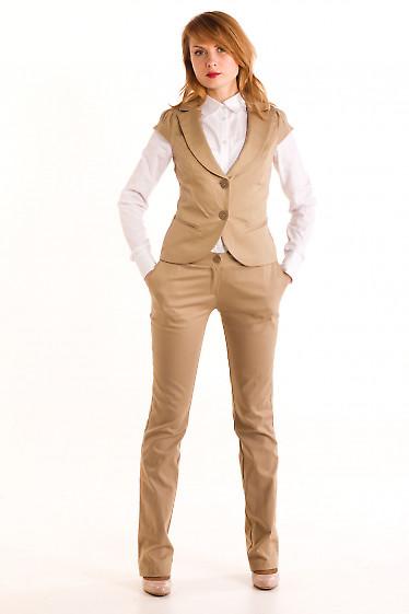 Фото Брюки горчичные Демо. Деловая женская одежда