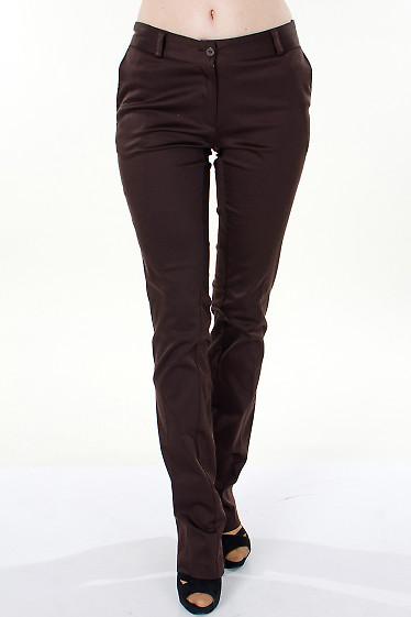 Фото Брюки коричневые Демо Деловая женская одежда