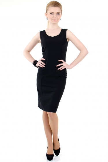 Фото Сарафан черный офисный Деловая женская одежда