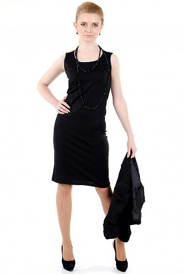 Фото Сарафан черный трикотажный Деловая женская одежда