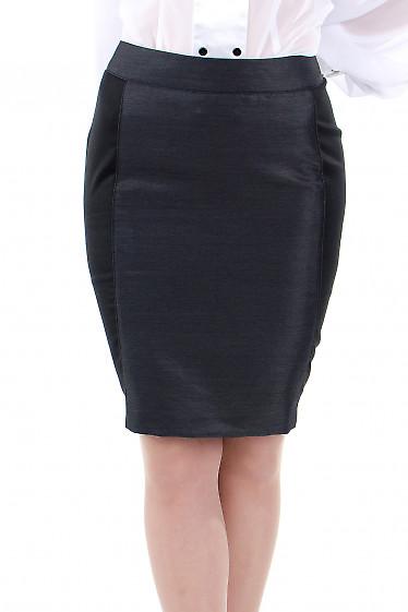 Фото Юбка с вставками черными. Деловая женская одежда