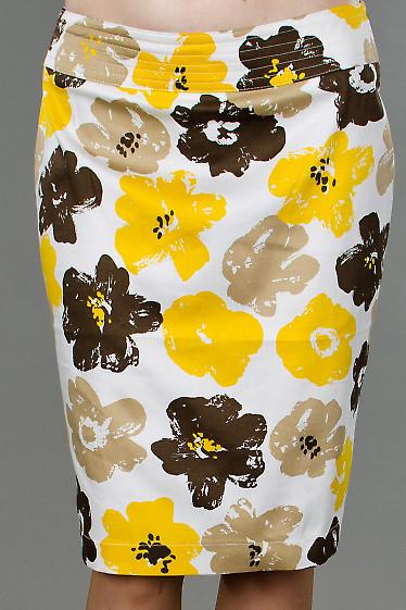 Фото Юбка в цветочек Деловая женская одежда