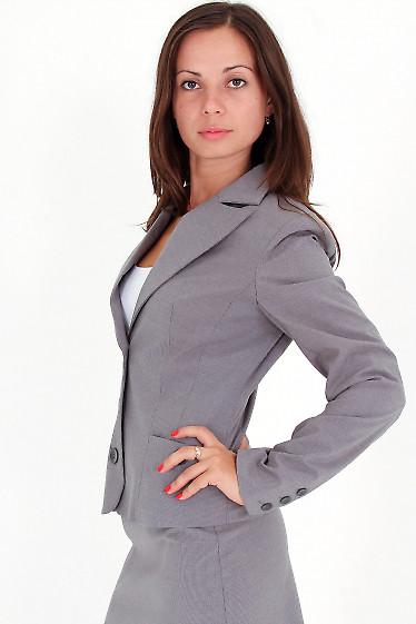 Фото Жакет в светло-серую полоску Деловая женская одежда