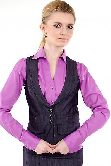 Фото Жилет фиолетовый Деловая женская одежда