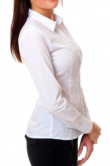 Купить белую блузку со складочками Деловая женская одежда