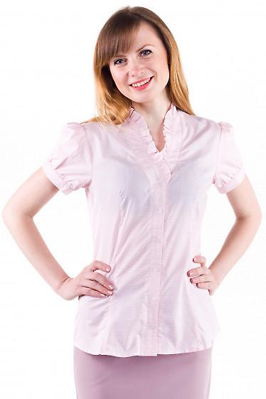 Фото Блузка в мелкую красную клетку Деловая женская одежда