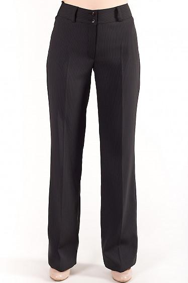 Брюки черные в полоску Деловая женская одежда